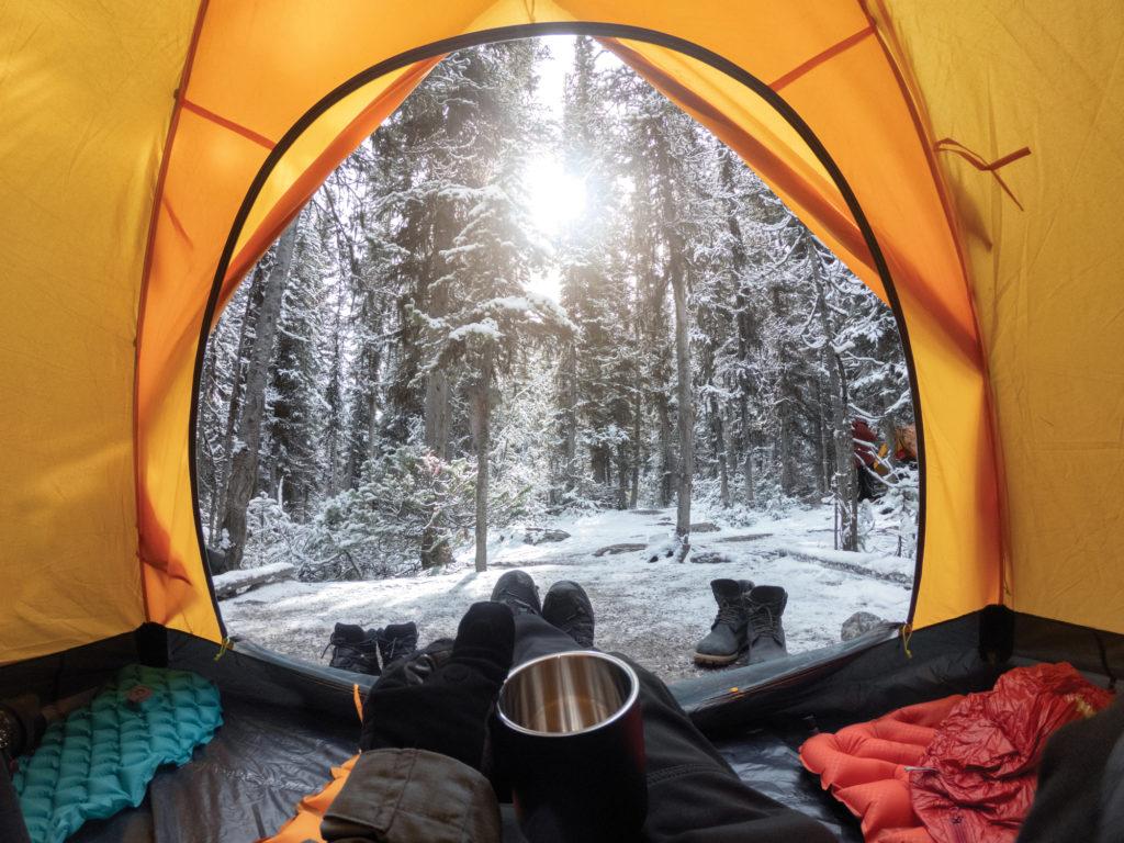 Oregon winter camping